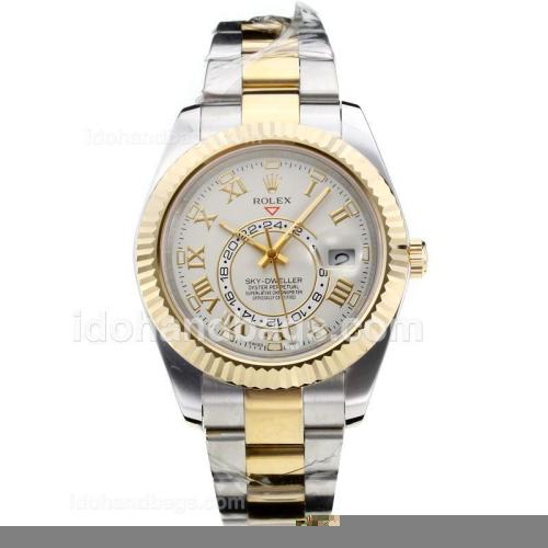 Rolex Sky Dweller Automatic Two Tone with White Dial-Sapphire Glass 182534