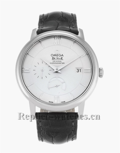 Omega De Ville Prestige Black Leather Strap 424.13.40.21.02.001