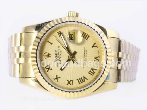 Rolex Datejust Automatic Full Gold with Golden Dial-Roman Marking 23367