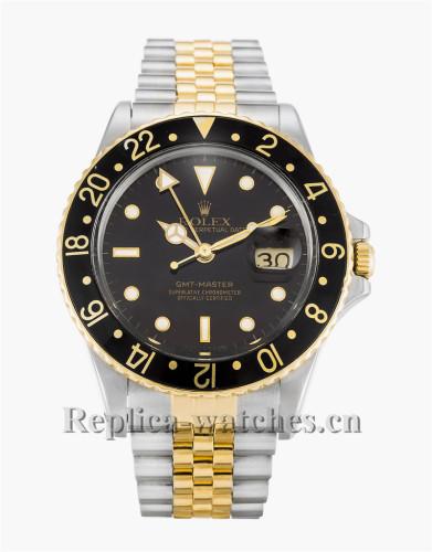 Rolex GMT Master Black Dial 38MM 16753
