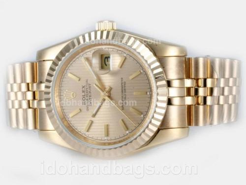 Rolex Datejust Automatic Full Gold with Golden Dial 21821