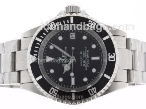 Rolex Sea-Dweller Swiss ETA 2836 Movement with Black Dial S/S-New Version 44283