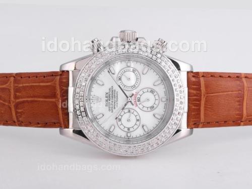 Rolex Daytona Automatic Diamond Bezel with MOP Dial 25702