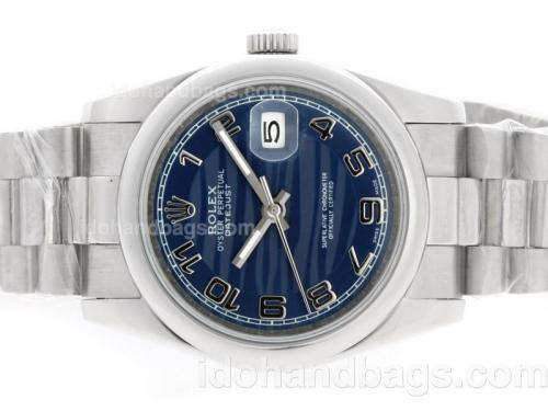 Rolex Datejust Automatic with Blue Wave Dial-Number Marking 36682