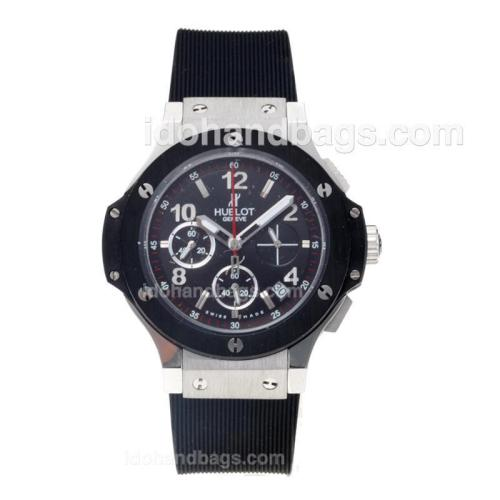 Hublot Big Bang Working Chronograph with Black Dial and Strap-Lady Size 43541