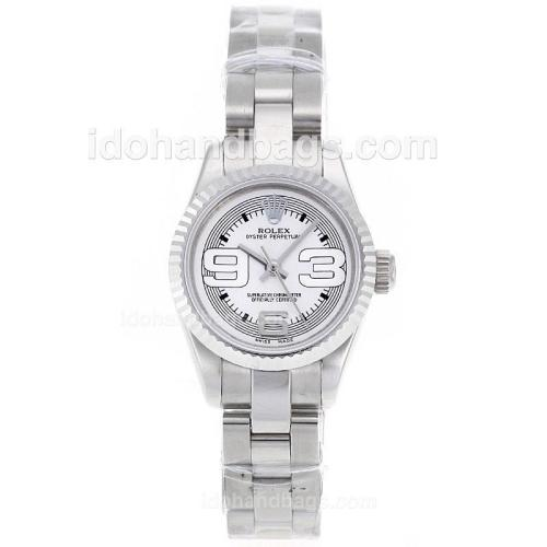 Rolex Air-King Swiss ETA 2671 Movement with White Dial S/S-Lady Size 72082