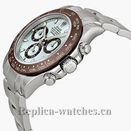 Rolex Daytona Swiss 7750 Movement Ice Blue Dial Platinum Watch 116506