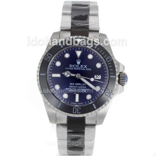 Rolex Sea-Dweller Automatic Ceramic Bezel with Blue Dial S/S-Sapphire Glass 119086