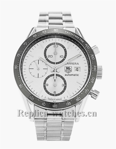 Tag Heuer Carrera Stainless Steel Strap White Dial 41MM CV2011.BA0786