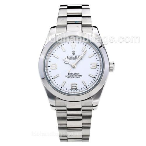 Rolex Explorer Automatic with White Dial S/S Oversized Version 197874
