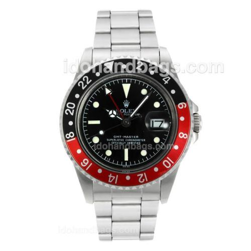 Rolex GMT-Master Swiss ETA 2836 Movement with Black Dial S/S-Vintage Edition 126802