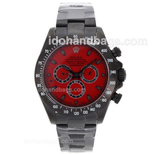 Rolex Daytona II Automatic Full PVD Stick Markers with Red Dial 64231