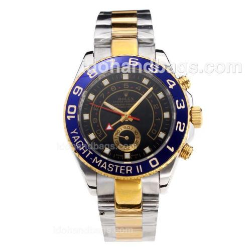 Rolex Yachtmaster II Automatic Blue Bezel Two Tone with Black Dial 203592