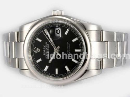 Rolex Datejust Automatic with Black Dial 18154