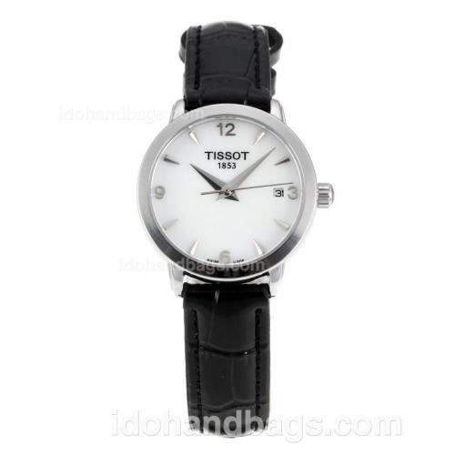 Tissot Cera with White Dial-Leather Strap-Sapphire Glass 172966