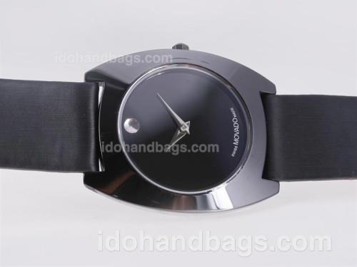 Movado Classic Ceramic Bezel with Black Dial-Couple Watch 25445