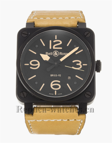 Bell and Ross Rubber Strap BR03-92 BR03-92-S