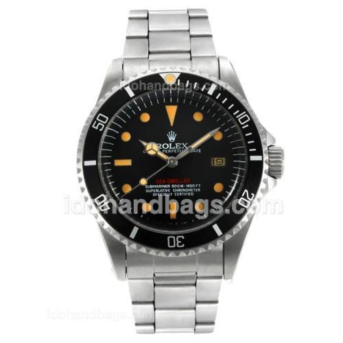 Rolex Sea-Dweller Swiss ETA 2836 Movement Vintage Edition with Black Dial-Orange Marking 126804