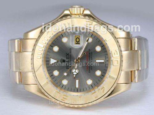 Rolex Yacht-Master Automatic Full Gold with Gray Dial 11905