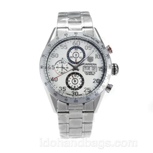 Tag Heuer Carrera Calibre 16 Automatic with White Dial S/S 171114