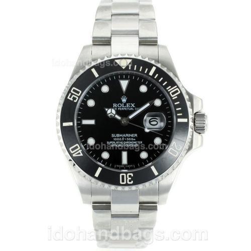 Rolex Submariner Automatic Ceramic Bezel with Black Dial S/S 115370