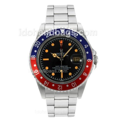 Rolex GMT-Master Swiss ETA 2836 Movement with Black Dial Orange Markers-Vintage Edition 126796