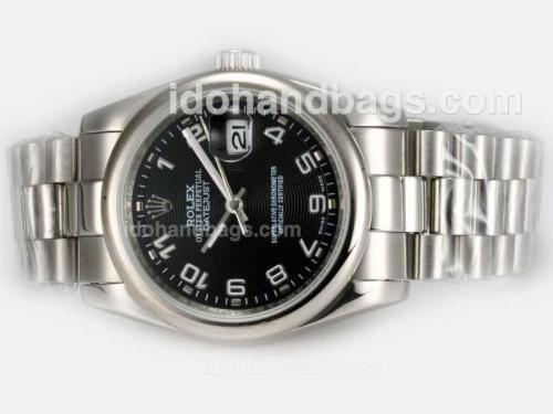 Rolex Datejust Automatic with Black Dial-Number Marking 20664