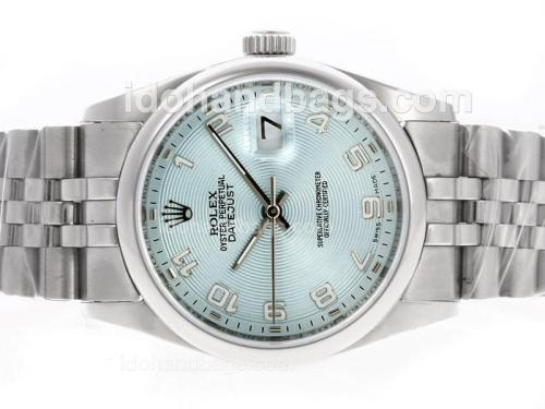 Rolex Datejust Automatic Number Markers with Blue Dial-Same Structure as ETA Version-lady size 40579