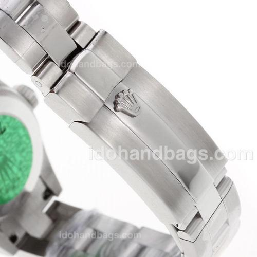 Rolex Air-King Swiss ETA 2671 Movement Roman Markes with Black Dial S/S-Lady Size 72073