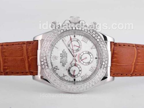 Rolex Daytona Automatic Diamond Bezel with Meteorite Dail-Roman Marking 25701
