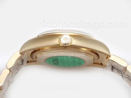 Rolex Air-King Oyster Perpetual Automatic Full Gold with White Dial-New Version 17826