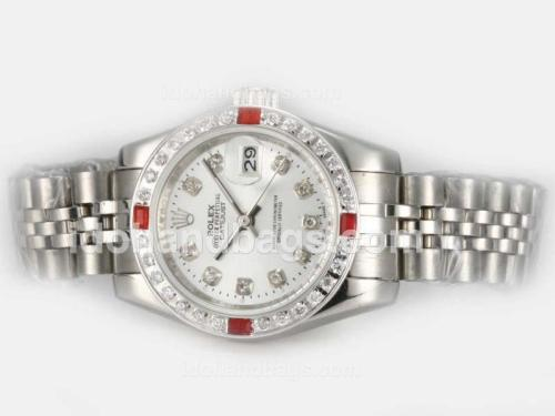 Rolex Datejust Automatic Diamond Marking and Bezel with Silver Dial 20818