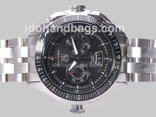 Tag Heuer Mercedes-Benz SLR Calibre 17 Working Chrono with Black Dial-Same Chassis As 7750-High Quality 25373