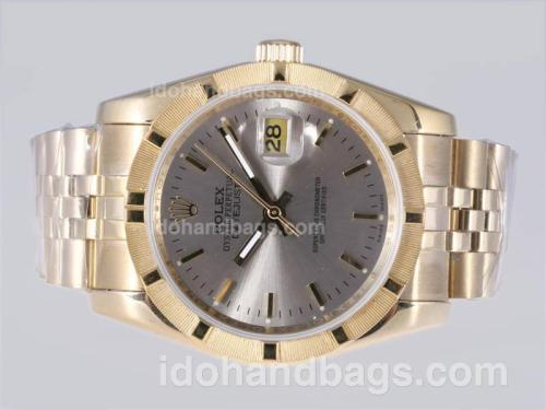 Rolex Datejust Automatic Full Gold with Gray Dial 24348