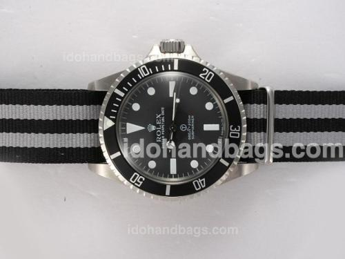 Rolex Submariner Ref.5517 Automatic with Black Dial and Bezel Nylon Band Vintage Edition 10141
