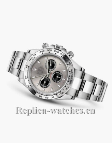 Rolex Daytona Gray Dial Stainless Steel Strap Replica Watch
