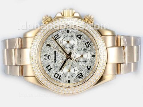 Rolex Daytona Automatic Full Gold with Diamond Bezel and Dial 16239