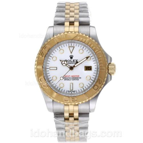Rolex Yacht-Master Automatic Two Tone with White Dial 61763