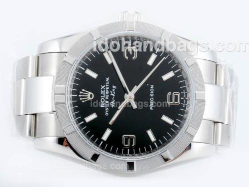 Rolex Air-King Precision Automatic with Black Dial 23142