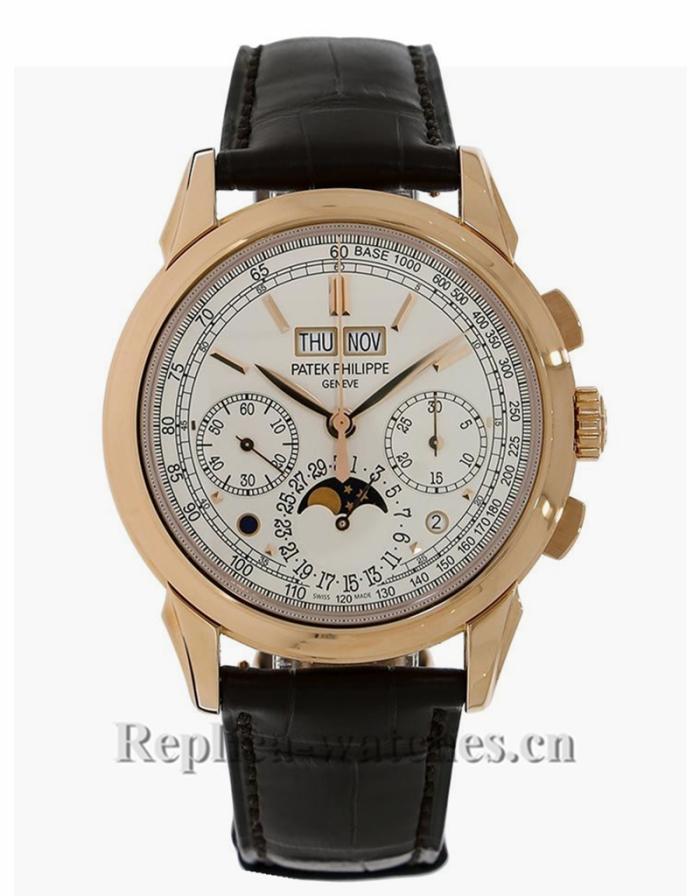 Patek Philippe Replica Grand Complications Rose Gold Perpetual Calendar Chronograph 41MM Watch 5270R001