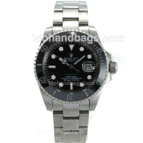 Rolex Submariner Automatic Ceramic Bezel with Black Dial S/S-Sapphire Glass 117916