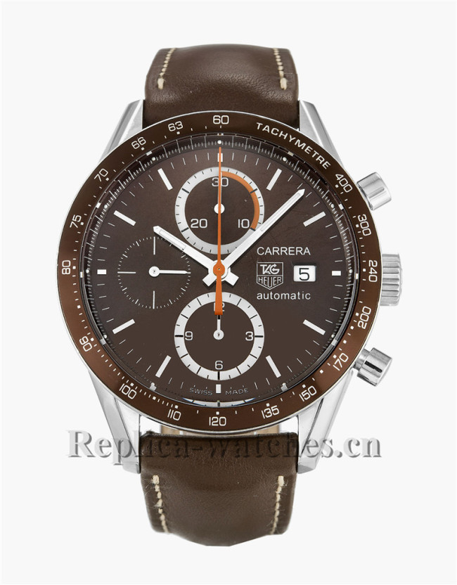 Tag Heuer Carrera Brown Leather Strap CV2013.FC6234