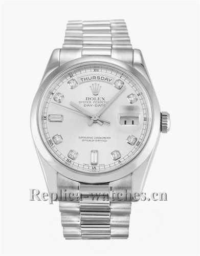 Rolex Day-Date White Dial 36MM 118209