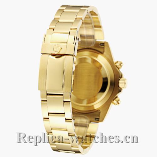Rolex Daytona Gold Strap Black Dial with Diamond Bezel Replica Watch