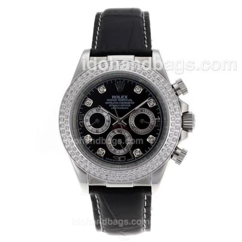 Rolex Daytona Automatic Diamond Bezel with Black Dial 12958