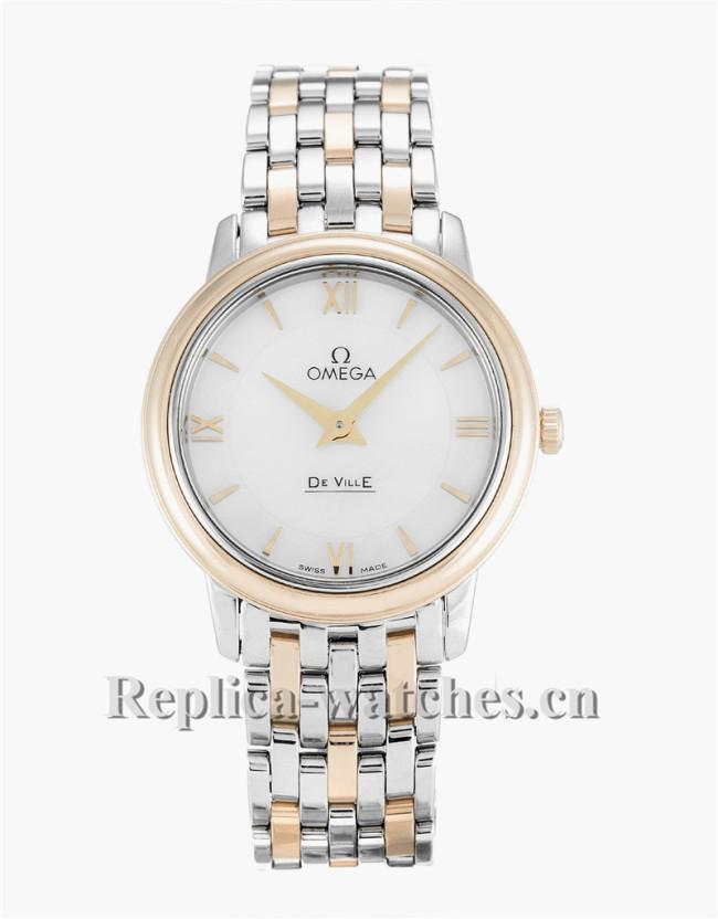 Omega De Ville Prestige Ladies White Dial 27MM 424.20.27.60.05.002