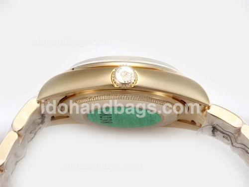 Rolex Air-King Oyster Perpetual Automatic Full Gold with Golden Dial-New Version 17828