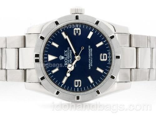 Rolex Explorer Automatic with Blue Dial S/S 35529