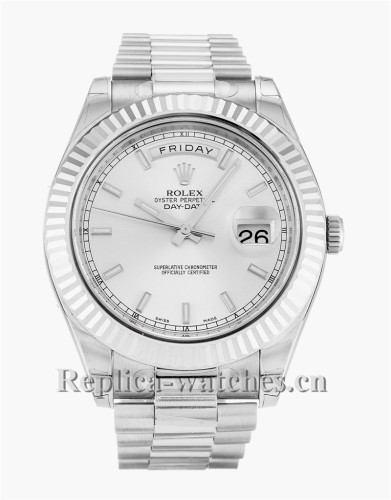 Rolex Day-Date II White Dial 41MM 218239