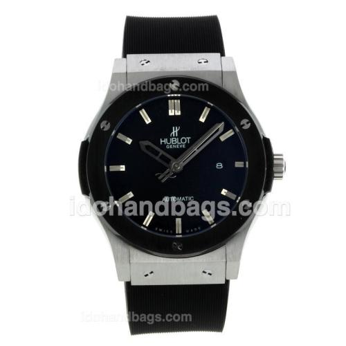 Hublot Big Bang Automatic PVD Bezel with Black Dial-Rubber Strap 127582